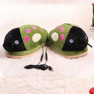 USB Heating LadyBug Slippers